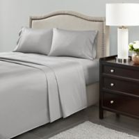 Madison Park 600-Thread-Count Cotton Queen Sheet Set in Light Grey