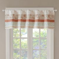 Madison Park Dawn Window Valance in Coral
