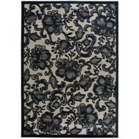 Nourison Gil Floral 7-Foot 9-Inch x 10-Foot 10-Inch Area Rug in Pewter