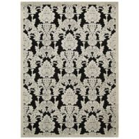 Nourison Gil Damask 3-Foot 6-Inch x 5-Foot 6-Inch Area Rug in Black