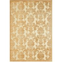 Nourison Gil Damask 3-Foot 6-Inch x 5-Foto 6-Inch Area Rug in Gold