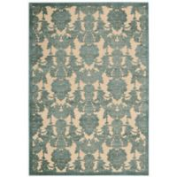 Nourison Gil Damask 3-Foot 6-Inch x 5-Foot 6-Inch Area Rug in Teal