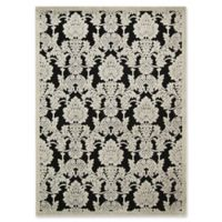Nourison Gil Damask 5-Foot 3-Inch x 7-Foot 5-Inch Area Rug in Black