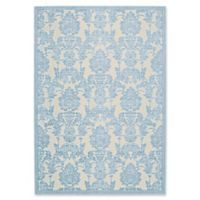 Nourison Gil Damask 5-Foot 3-Inch x 7-Foot 5-Inch Area Rug in Ivory/Light Blue