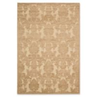 Nourison Gil Damask 5-Foot 3-Inch x 7-Foot 5-Inch Area Rug in Gold