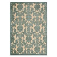 Nourison Gil Damask 5-Foot 3-Inch x 7-Foot 5-Inch Area Rug in Teal