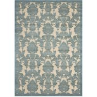 Nourison Gil Damask 7-Foot 9-Inch x 10-Foot 10-Inch Area Rug in Teal