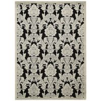 Nourison Gil Damask 7-Foot 9-Inch x 10-Foot 10-Inch Area Rug in Black
