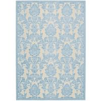 Nourison Gil Damask 7-Foot 9-Inch x 10-Foot 10-Inch Area Rug in Ivory/Light Blue