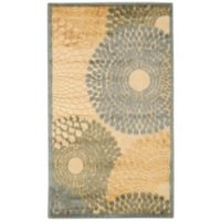 Nourison Gil Sunburst 2-Foot 3-Inch x 3-Foot 9-Inch Accent Rug in Teal