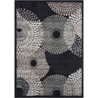 Nourison Gil Sunburst 2-Foot 3-Inch x 3-Foot 9-Inch Accent Rug in Black