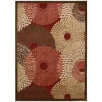 Nourison Gil Sunburst 3-Foot 6-Inch x 5-Foot 6-Inch Area Rug in Red