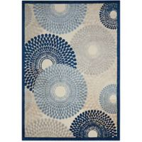 Nourison Gil Sunburst 3-Foot 6-Inch x 5-Foot 6-Inch Area Rug in Ivory/Blue
