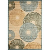 Nourison Gil Sunburst 3-Foot 6-Inch x 5-Foot 6-Inch Area Rug in Teal