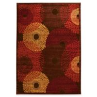 Nourison Gil Sunburst 5-Foot 3-Inch x 7-Foot 5-Inch Area Rug in Brown