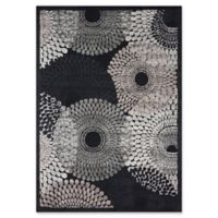 Nourison Gil Sunburst 5-Foot 3-Inch x 7-Foot 5-Inch Area Rug in Black