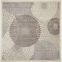 Nourison Gil Sunburst 6-Foot 7-Inch Square Area Rug in Grey