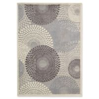 Nourison Gil Sunburst 6-Foot 7-Inch x 9-Foot 6-Inch Area Rug in Grey