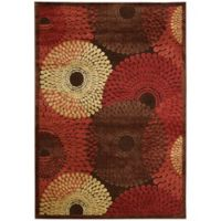Nourison Gil Sunburst 7-Foot 9-Inch x 10-Foot 10-Inch Area Rug in Brown