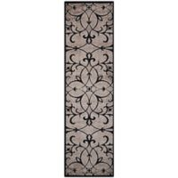 Nourison Gil Old World 2-Foot 3-Inch x 8-Foot Runner in Black