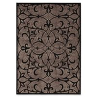 Nourison Gil Old World 5-Foot 3-Inch x 7-Foot 5-Inch Area Rug in Black