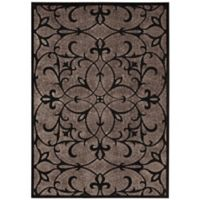 Nourison Gil Old World 7-Foot 9-Inch x 10-Foot 10-Inch Area Rug in Black
