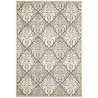 Nourison Graphic Illusions Diamonds 5-Foot 3-Inch x 7-Foot 5-Inch Area Rug in Ivory/Grey