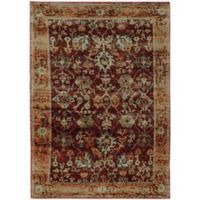 Oriental Weavers Andorra Floral 7'10 x 10'10 Area Rug in Red