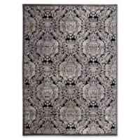 Nourison Graphic Illusions Damask 2-Foot 3-Inch x 3-Foot 9-Inch Accent Rug in Black