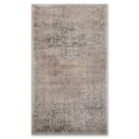 Nourison Graphic Illusions Damask 2-Foot 3-Inch x 3-Foot 9-Inch Accent Rug in Grey