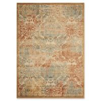 Nourison Graphic Illusions Damask 2-Foot 3-Inch x 3-Foot 9-Inch Accent Rug in Light Gold
