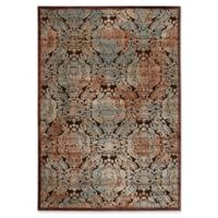 Nourison Graphic Illusions Damask 5-Foot 3-Inch x 7-Foot 5-Inch Area Rug in Chocolate