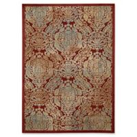Nourison Graphic Illusions Damask 5-Foot 3-Inch x 7-Foot 5-Inch Area Rug in Red