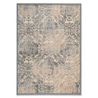 Nourison Graphic Illusions Damask 5-Foot 3-Inch x 7-Foot 5-Inch Area Rug in Sky
