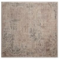 Nourison Graphic Illusions Damask 6-Foot 7-Inch x 6-Foot 7-Inch Area Rug in Grey