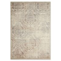 Nourison Graphic Illusions Damask 6-Foot 7-Inch x 9-Foot 6-Inch Area Rug in Ivory