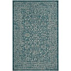 Miami Vintage 5-Foot x 7-Foot Indoor/Outdoor Area Rug in Turquoise