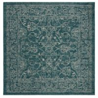 Miami Vintage 6-Foot 7-Inch Square Indoor/Outdoor Area Rug in Turquoise