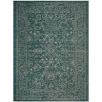 Miami Vintage 9-Foot x 12-Foot Indoor/Outdoor Area Rug in Turquoise
