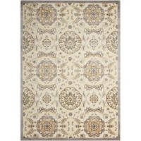Nourison Gil Floral 7-Foot 9-Inch x 10-Foot 10-Inch Area Rug in Ivory