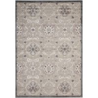 Nourison Gil Floral 7-Foot 9-Inch x 10-Foot 10-Inch Area Rug in Grey