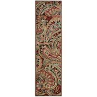 Nourison Graphic Illusions Paisley 2-Foot 3-Inch x 8-Foot Multicolor Runner