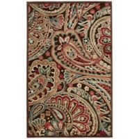 Nourison Graphic Illusions Paisley 3-Foot 6-Inch x 5-Foot 6-Inch Multicolor Area Rug