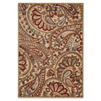 Nourison Graphic Illusions Paisley 5-Foot 3-Inch x 7-Foot 5-Inch Multicolor Area Rug