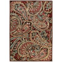 Nourison Graphic Illusions Paisley 7-Foot 9-Inch x 10-Foot 10-Inch MulticolorArea Rug