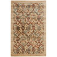 Nourison Graphic Illusions Classic Damask 2-Foot 3-Inch x 3-Foot 9-Inch Accent Rug in Light Gold