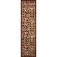 Nourison Graphic Illusions Classic Damask 2-Foot 3-Inch x 8-Foot Runner in Chocolate
