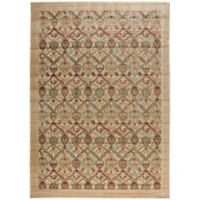 Nourison Graphic Illusions Classic Damask 7-Foot 9-Inch x 10-Foot 10-Inch Area Rug in Light Gold