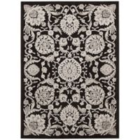 Nourison Graphic Illusions Blossoms 2-Foot 3-Inch x 3-Foot 9-Inch Accent Rug in Black
