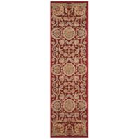Nourison Graphic Illusions Blossoms 2-Foot 3-Inch x 8-Foot Runner in Red